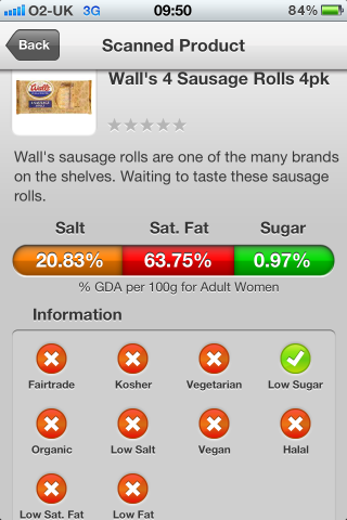 Can I Eat It iPhone App lets you know what is in the Walls Sausage Rolls