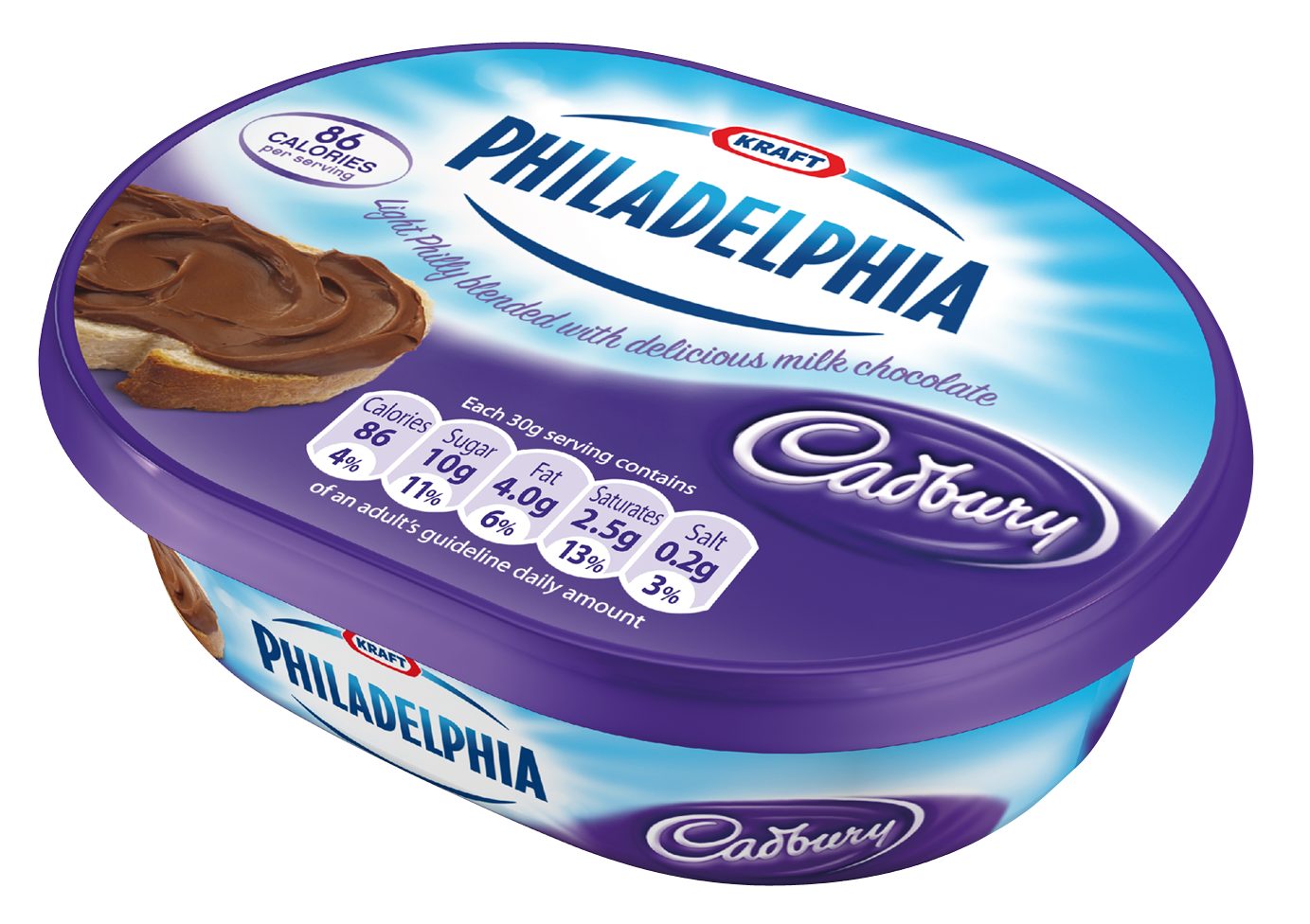 Can I Eat It iPhone App lets you know what is in the Philadelphia Light Philly with Cadbury Milk Chocolate