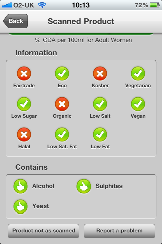 Can I Eat It iPhone App lets you know what is in the Dom Perignon Champagne