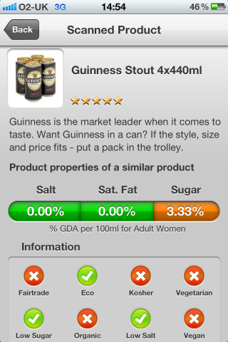 Can I Eat It iPhone App lets you know what is in the Guinness Stout